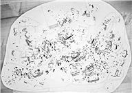 Skeppsfigur, Människofigur, Djurfigur, Skålgropar Älvkvarnar, Fotsula, Fördjupning rännformig, Cirkelfigur, Ristningsytan hela, Obestämbar figur, Fördjupning avlång