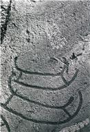 Skeppsfigur, Fotsula, Målad, Detalj